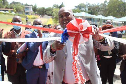 MKU Chairman Prof. Simon Gicharu, CBS launches an Ultra-Modern Cafeteria at Equip Africa College